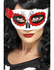 Farvet maske med lille rose voksen