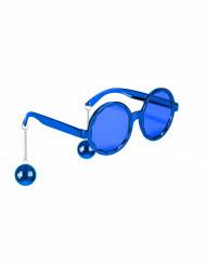 Blå disko-briller til voksne