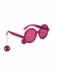 Pink hippiebriller til voksne