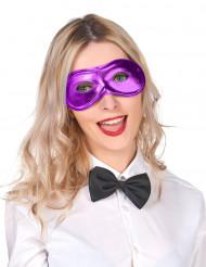 Metalskinnende lilla maske voksen