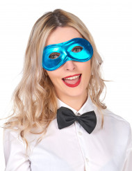 Metalskinnende blå maske voksen