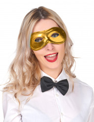 Metalskinnende guldfarvet maske voksen