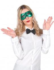 Metalskinnende grøn maske voksen