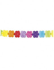Guirlande multifarvet papir blomster 4m