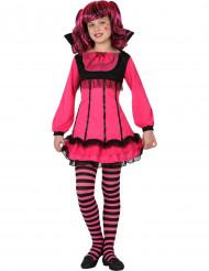 Kostume vampyr lyserød til piger Halloween