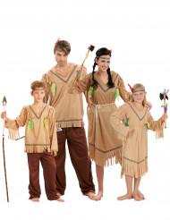 Kostume Indianer familie