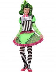 Kostume grønt monster til piger Halloween
