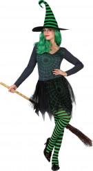 Kostume heks spindelvøv grøn kvinde