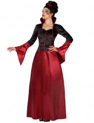 Rød og sort vampyrdragt voksen Halloween