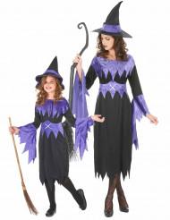 Parkostume lilla hekse mor og datter Halloween