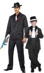 Par kostume gangster charleston til far og søn