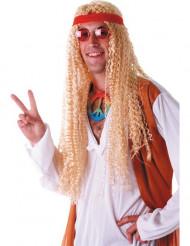 Ekstralang blond hippieparyk voksen