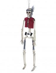 Dekoration hængende skeletpirat 40 cm