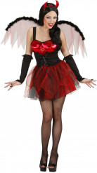 Udklædning rød djævel halloween kvinde