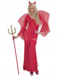 Kostume djævle i rød blonde til kvinder Halloween