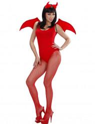 Rødt demonsæt Halloween