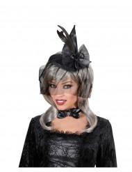 Mini heksehat med slør Halloween