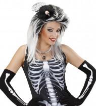 Dødningehoved minihat voksen Halloween