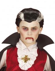 Tofarvet vampyrparyk barn Halloween