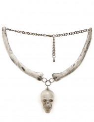 Dødningehoved halskæde voksen Halloween