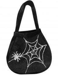 Taske med edderkop og spindelvæv Halloween