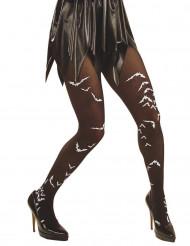 Strømpebukser flagermus voksen Halloween
