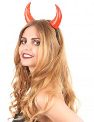 Røde djævlehorn voksen Halloween