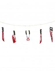 Guirlande med blodige våben Halloween