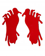 Blodige fodspor Halloween