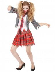 udklædningsdragt Zombieskolepige voksen