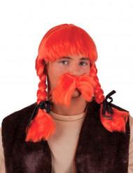 Orange paryk galler voksen