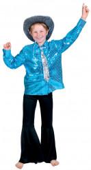 Blå disco-skjorte dreng