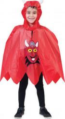 Djævleponcho halloween barn