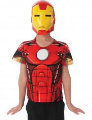 Skjortebryst og maske Ironman Avengers Assemble™ børn