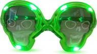 Lysende dødningehovedformede briller i grøn