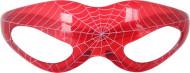 Røde, lysende briller med spindelvævsmønster