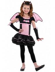 Kostume flagermus lyserød til piger Halloween