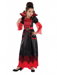 Rød vampyrkjole til piger - Halloween