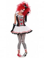 Udklædningsdragt Harlekinklovn Halloween unge