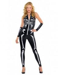 Sexet skelet kvinde halloween