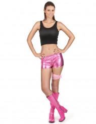Metallic pink diskoshorts kvinde