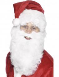 Hvidt skæg julemand 28 cm voksen