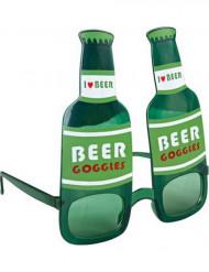 Briller grønne ølflasker voksen