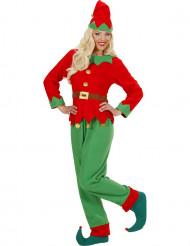 Kostume julemandens hjælper til kvinder