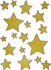 Dekoration til vinduer guld stjerne