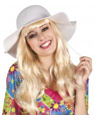 Sommerlig, hvid hat voksen