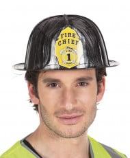Sort brandmandshjelm