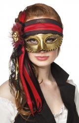 Venetiansk pirat-øjenmaske voksen
