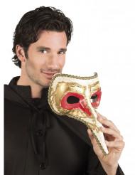 Venetiansk øjenmaske med lang næse voksen