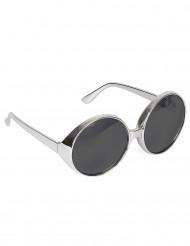 Sølvfarvede discobriller voksen